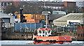 """J3575 : The """"Leanne McLoughlin"""", Belfast harbour (November 2018) by Albert Bridge"""