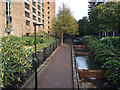 TQ3480 : Walk to Shadwell Basin beside Cobblestone Square, Wapping by Robin Stott