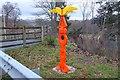 NT5135 : National Cycle Network signpost, Galashiels by Jim Barton