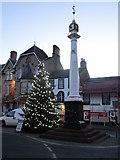 NY6820 : Low Cross and Christmas Tree by Jonathan Thacker