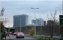 TQ1070 : Country Way looking towards Sunbury Roundabout by David Howard