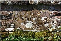 NX9921 : Bridge/date stone for Barngill Bridge by Roger Templeman