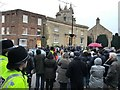TF4609 : Crowd waiting for the royal visitors in Museum Square, Wisbech by Richard Humphrey