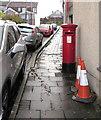ST1594 : Queen Elizabeth II pillarbox, West Avenue, Maesycwmmer by Jaggery