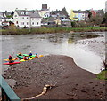 SO0428 : Canoeists on the River Usk, Brecon by Jaggery