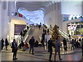 TQ3980 : Staircase in the main entrance to the O2 Arena by Rod Allday