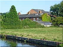 SK5023 : Canalside pasture near Zouch in Nottinghamshire by Roger  Kidd