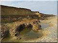 TM5383 : Eroding cliffs north of Benacre Broad by Hugh Venables