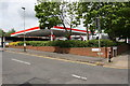 SK5704 : Esso petrol station at Pool Road / Fosse Road North junction by Roger Templeman
