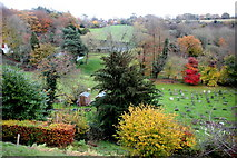 TQ3632 : Graveyard Autumn Colours, West Hoathly by Nigel Mykura