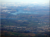 NS4660 : Paisley, Bishopton, the River Clyde and Loch Lomond from the air by Thomas Nugent