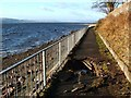 NS3874 : The Shore Circular Path (damaged) by Lairich Rig