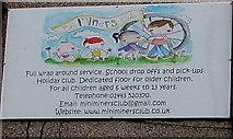 ST1494 : Mini Miners Club name sign, Ystrad Mynach by Jaggery