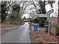 SK0712 : Stonywell Lane heading north to Longdon Green by Christine Johnstone