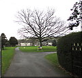 SO0428 : Northeast entrance to Christ College, Brecon by Jaggery