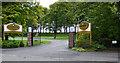 NS3422 : Western House Hotel gates by Thomas Nugent