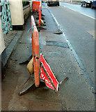 SX9065 : Barriers, Cricketfield Road, Torre by Derek Harper