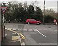 ST1494 : Ildiwch/Give Way, Davies Street, Ystrad Mynach by Jaggery