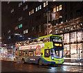 SJ3390 : Pier Head, Liverpool at night - December 2018 (6) by The Carlisle Kid