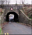 ST1494 : Low railway bridge over Beech Embankment, Ystrad Mynach by Jaggery