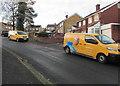 ST3090 : Yellow vans, Laurel Crescent, Malpas, Newport by Jaggery