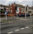 SS6696 : Neath Road pelican crossing, Morriston, Swansea by Jaggery