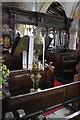 SD7152 : St Andrew's church Slaidburn:  Screen and Eagle Lectern by Bob Harvey