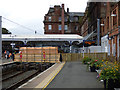 NS3421 : Temporary footbridge at Ayr railway station by Thomas Nugent