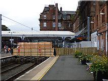 NS3421 : Temporary footbridge at Ayr railway station by Thomas Nugent
