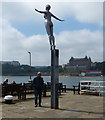 TA0488 : Diving Belle sculpture on Vincent's Pier by Mat Fascione
