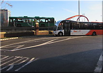 ST3188 : Two buses in Newport city centre by Jaggery