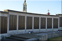 SX4753 : Plymouth Naval Memorial - South Atlantic, Norway, Greece, Mediterranean panels by N Chadwick