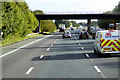 NY4158 : Bridge over the Southbound M6 by David Dixon