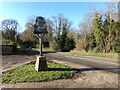 TM4899 : Ashby Village sign & Blocka Road by Adrian Cable
