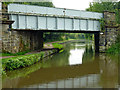 SK3029 : Railway bridge over the canal near Willington, Derbyshire by Roger  Kidd