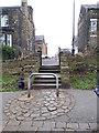 SE2435 : Bramley Park: steps to Westover Mount by Stephen Craven