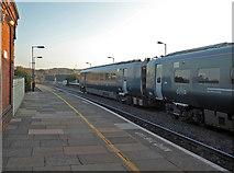 SO8555 : Worcester Foregate Street Station - new rolling stock by Chris Allen