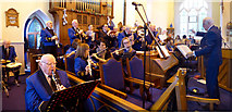 H4472 : St Eugene's Band, Trinity Church, Omagh by Kenneth  Allen