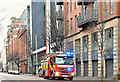 J3373 : Fire appliance, Christmas Day, Belfast - December 2018(2) by Albert Bridge