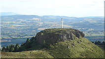 S0573 : At trig point on Devil's Bit Mountain - view towards Little Rock & cross by Colin Park
