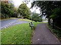 SS9695 : Bench alongside Pentwyn Road, Ton Pentre by Jaggery