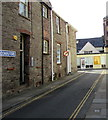 SO0428 : No parking in narrow Lion Yard, Brecon by Jaggery