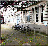 SS6593 : Bicycle racks outside Swansea railway station by Jaggery