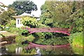 SJ9922 : The Chinese House and footbridge at Shugborough Hall by Jeff Buck