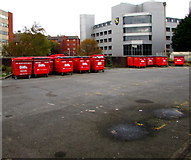 SS6593 : Red Biffa wheelie bins, Swansea by Jaggery