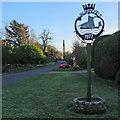 TM2744 : Waldringfield village sign by John Sutton