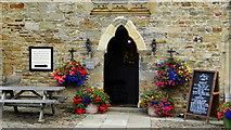 NY9650 : Blanchland - Doorway, Lord Crewe Arms by Colin Park