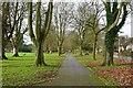 SO2956 : Path through recreation ground by Philip Halling