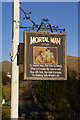 NY4103 : The Mortal Man inn sign, Troutbeck by Stephen McKay