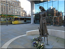 SJ8397 : Emmeline Pankhurst and the Altrincham tram by Carroll Pierce